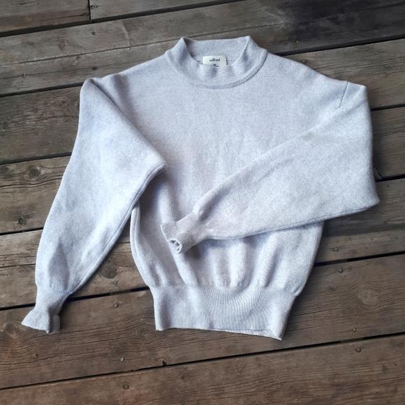 Wilfred grey meniro wool sweater
